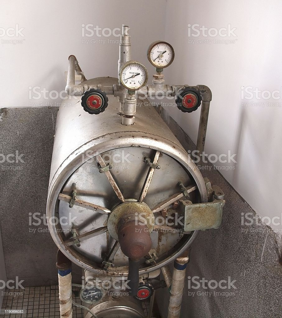 Vintage Equipment for Sterlizing royalty-free stock photo
