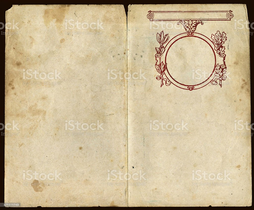 Vintage escorial scrapbook royalty-free stock photo