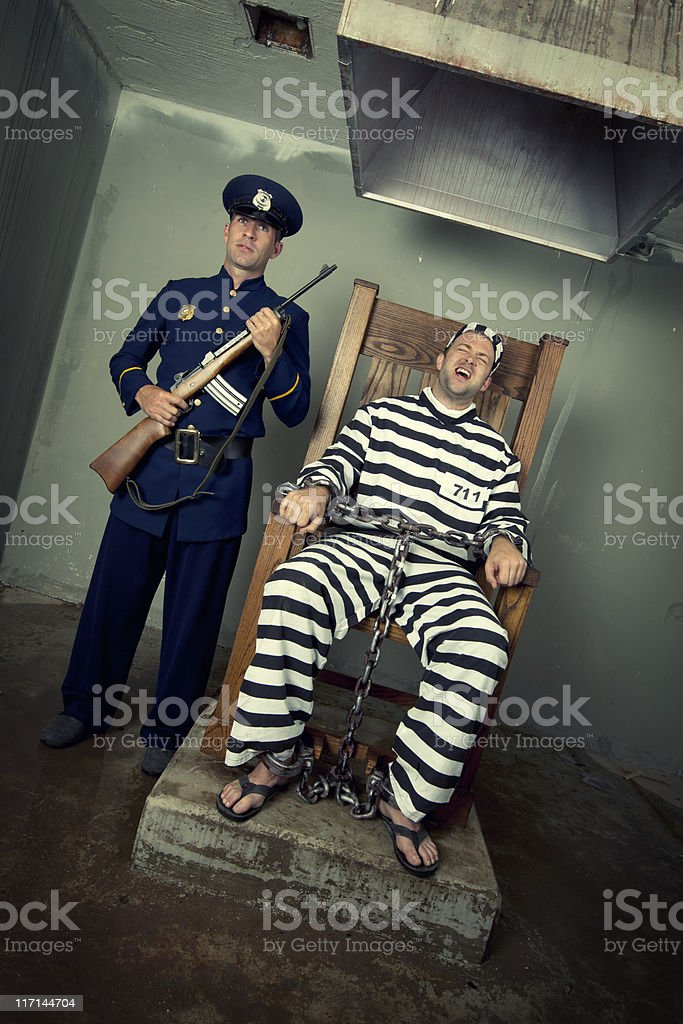 Vintage Execution with Electric Chair stock photo