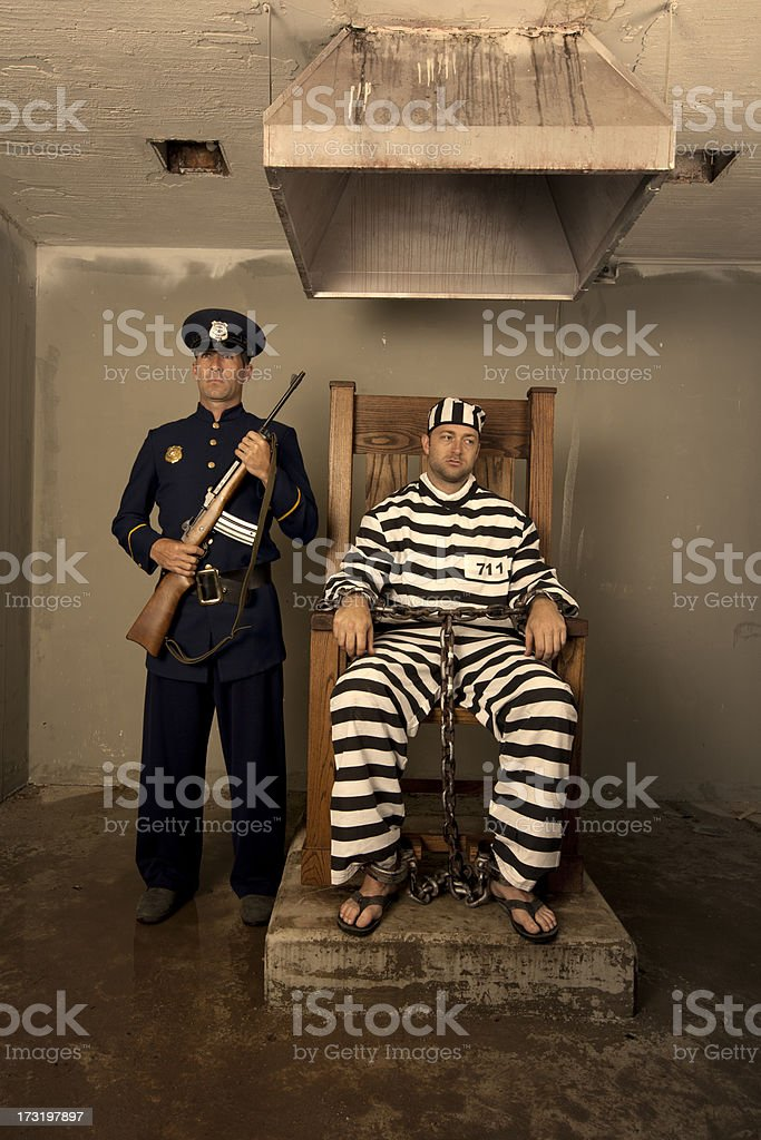 Vintage Execution with Electric Chair royalty-free stock photo