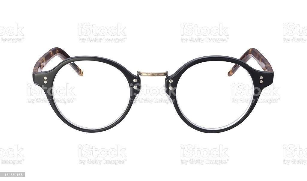 Vintage Eyeglasses isolated with clipping path royalty-free stock photo