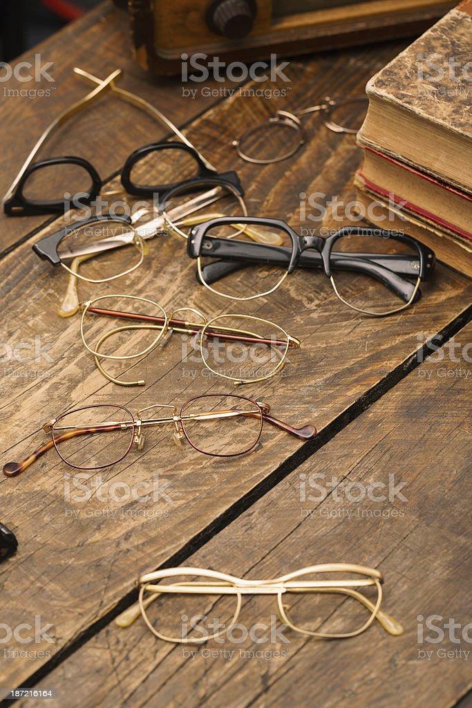 Vintage eyeglasses royalty-free stock photo