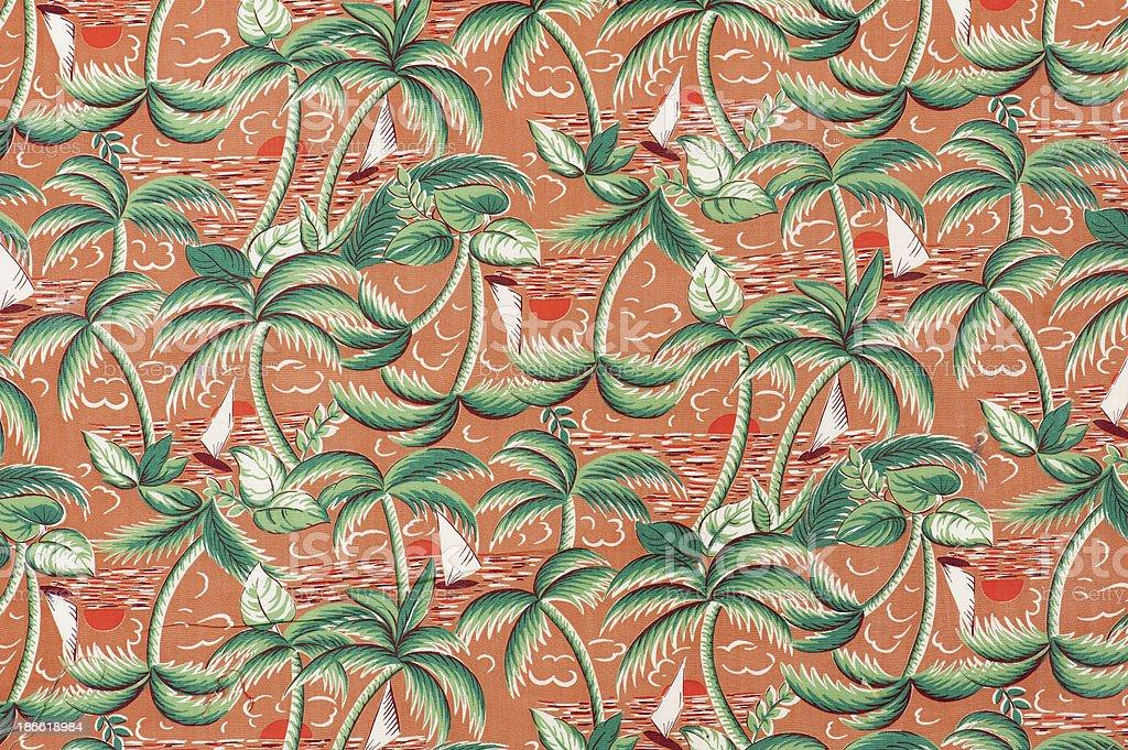 Vintage Fabric Background 1962-1972 stock photo