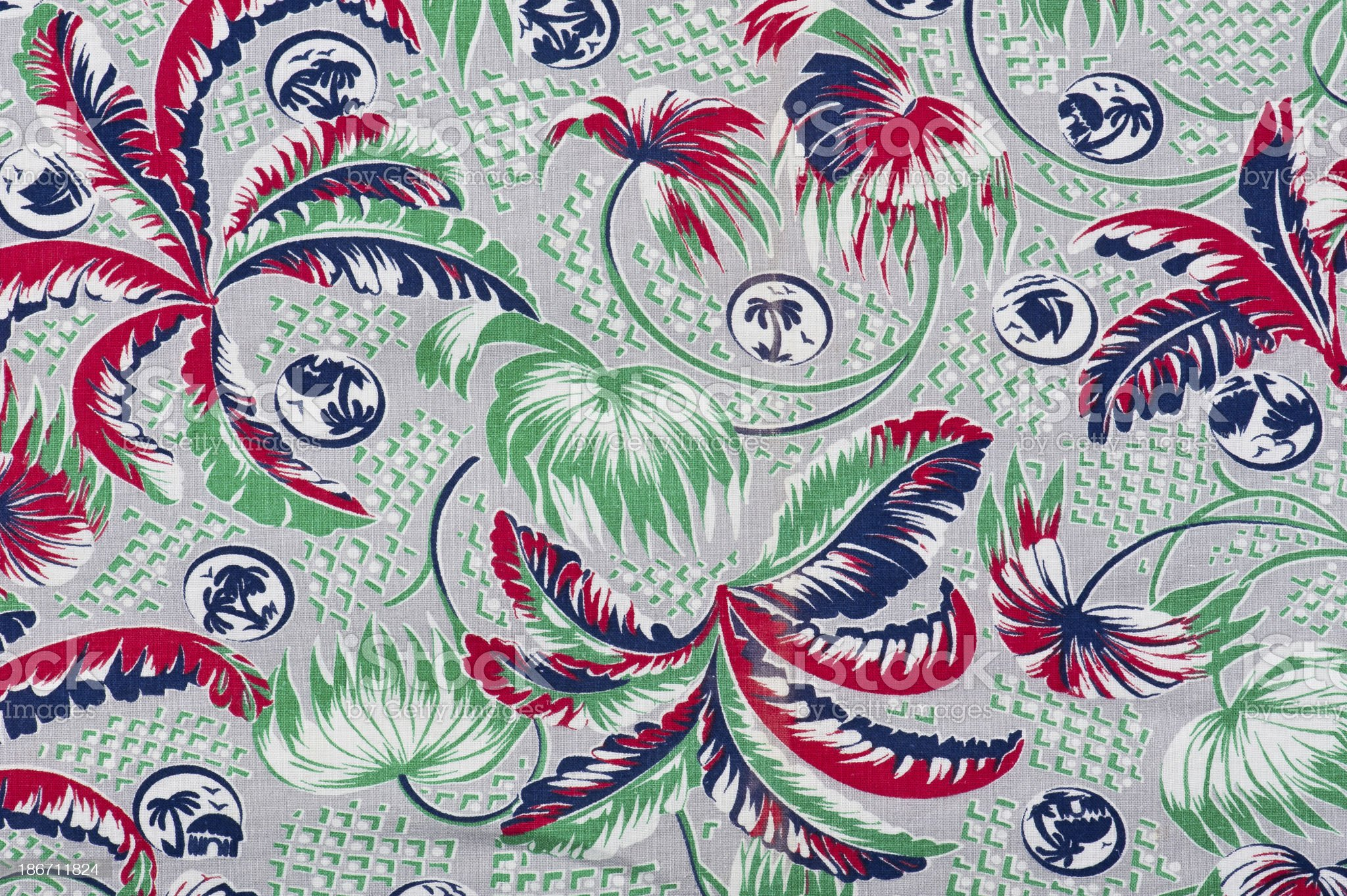 Vintage Fabric Background 1962-1972 royalty-free stock photo