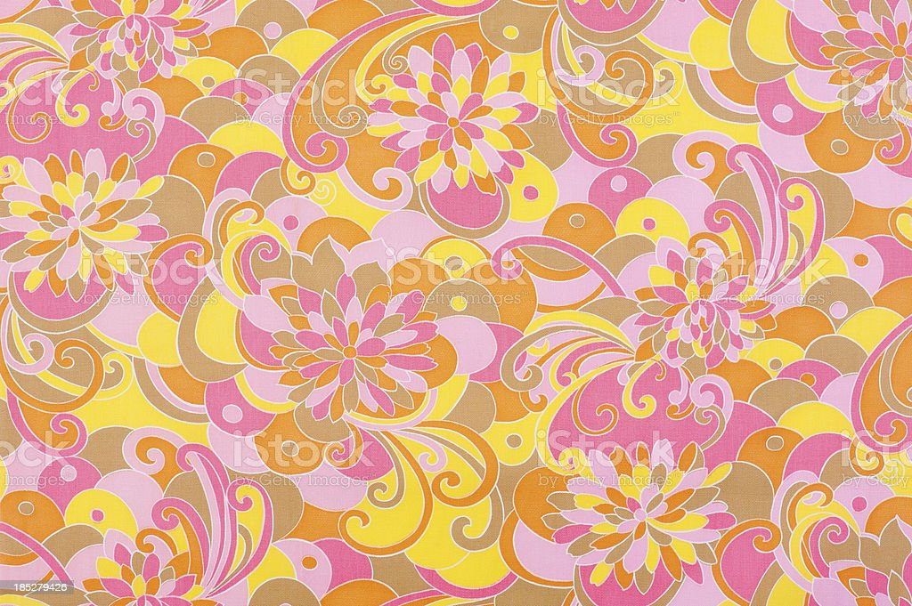 Vintage Fabric Background SB23 1962-1972 stock photo