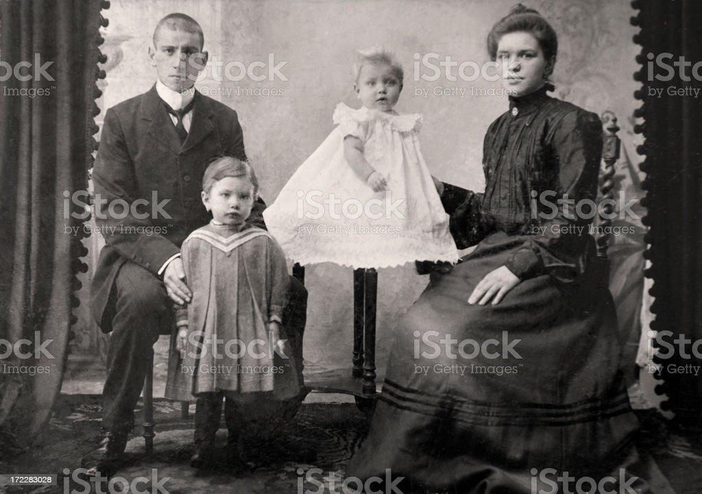 Vintage Family Photograph stock photo