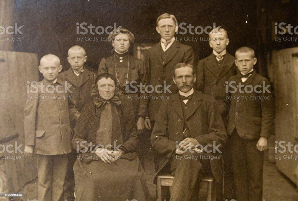 Vintage family stock photo