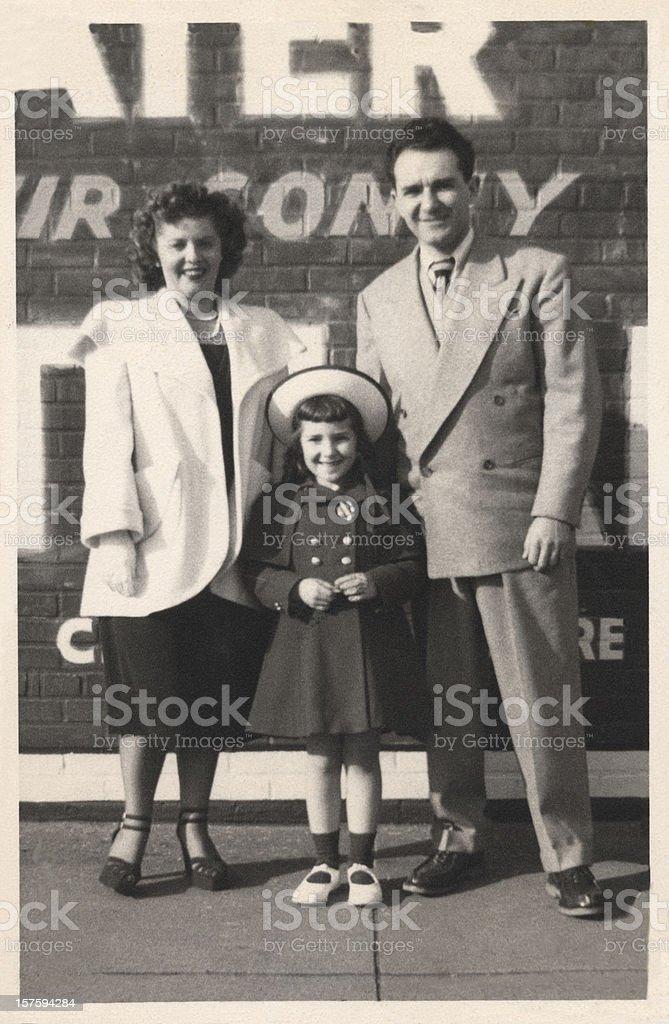 Vintage Family Snapshot stock photo