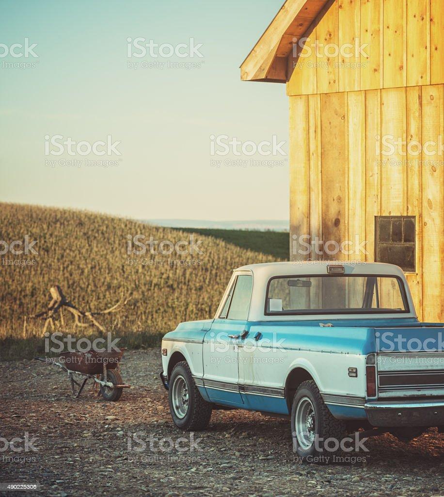 Vintage Farm Truck stock photo