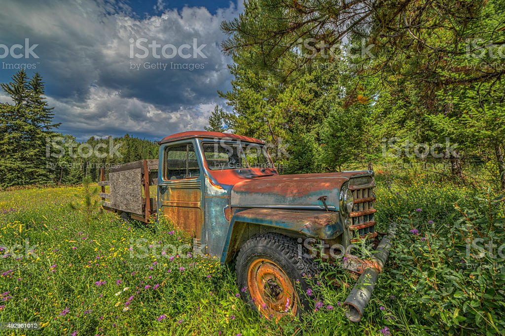 Vintage Farm Truck stock photo