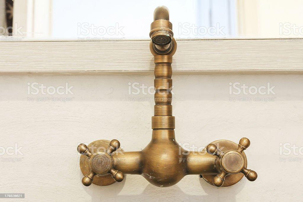 vintage faucet stock photo