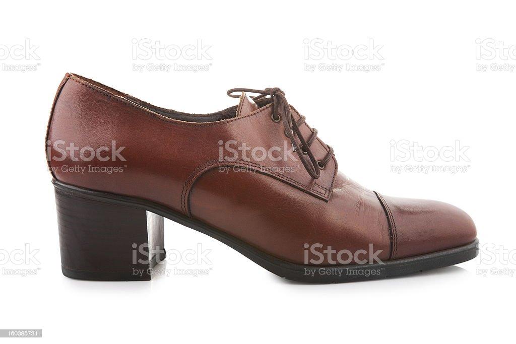 Vintage female shoe royalty-free stock photo