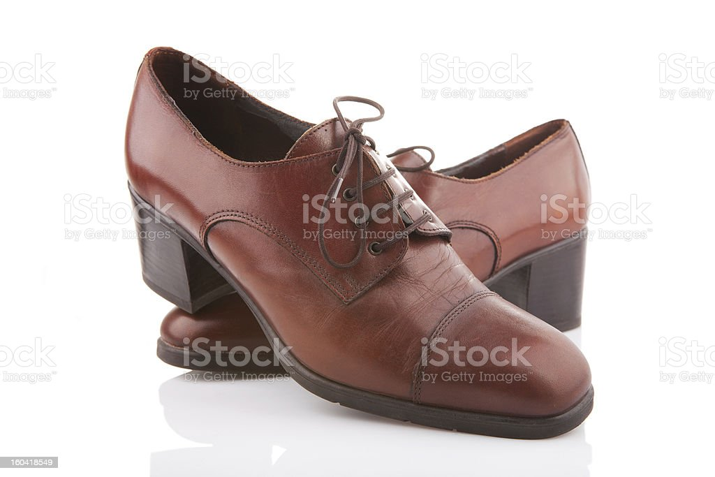Vintage female shoes royalty-free stock photo
