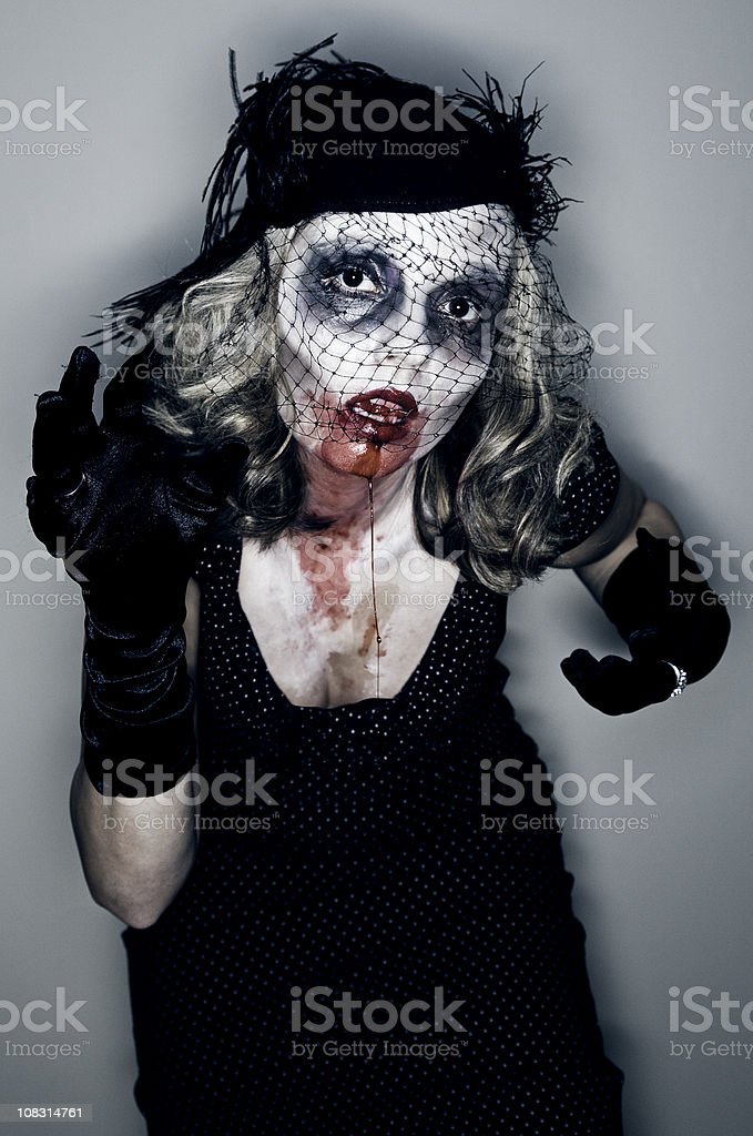 Vintage Female Zombie royalty-free stock photo