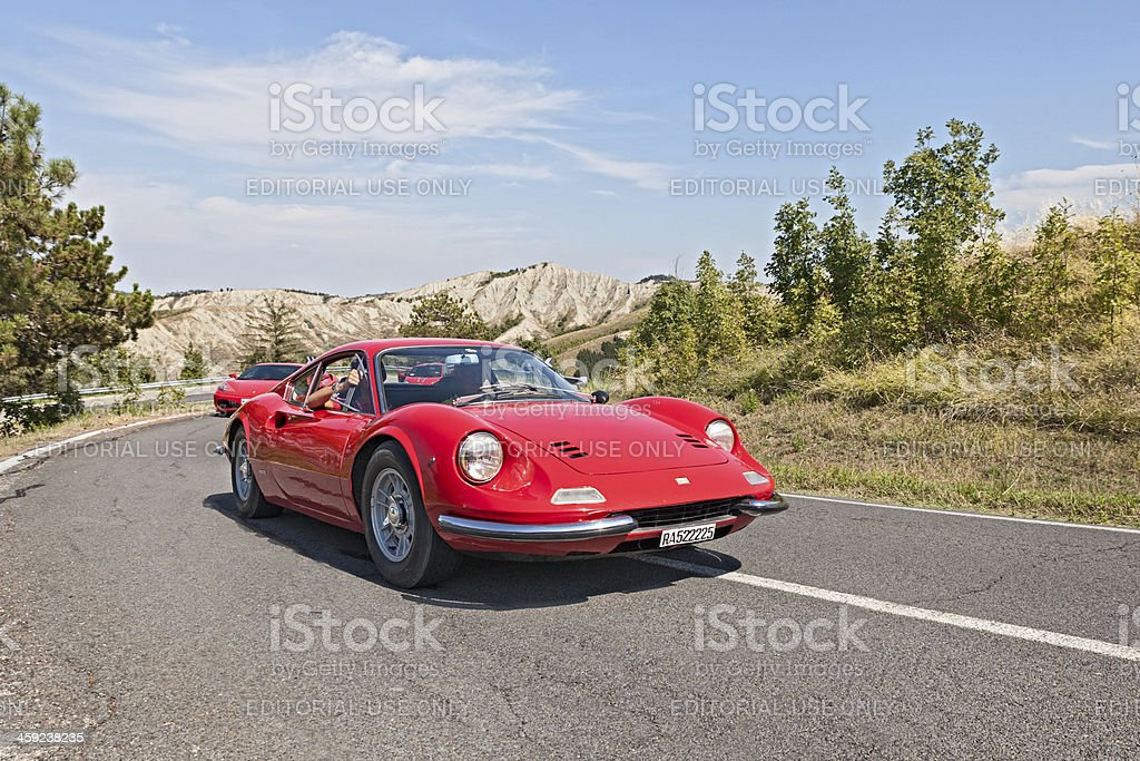 vintage Ferrari Dino GT stock photo