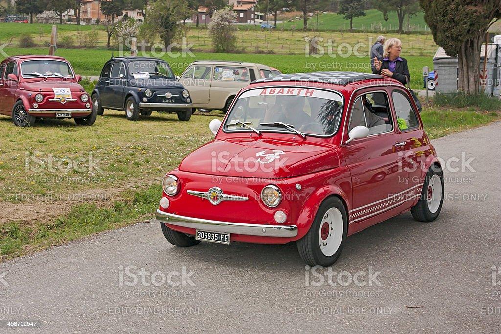 vintage Fiat 500 Abarth royalty-free stock photo
