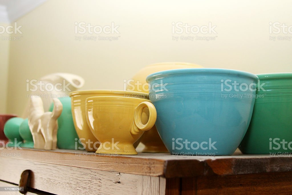 Vintage Fiesta Ware stock photo