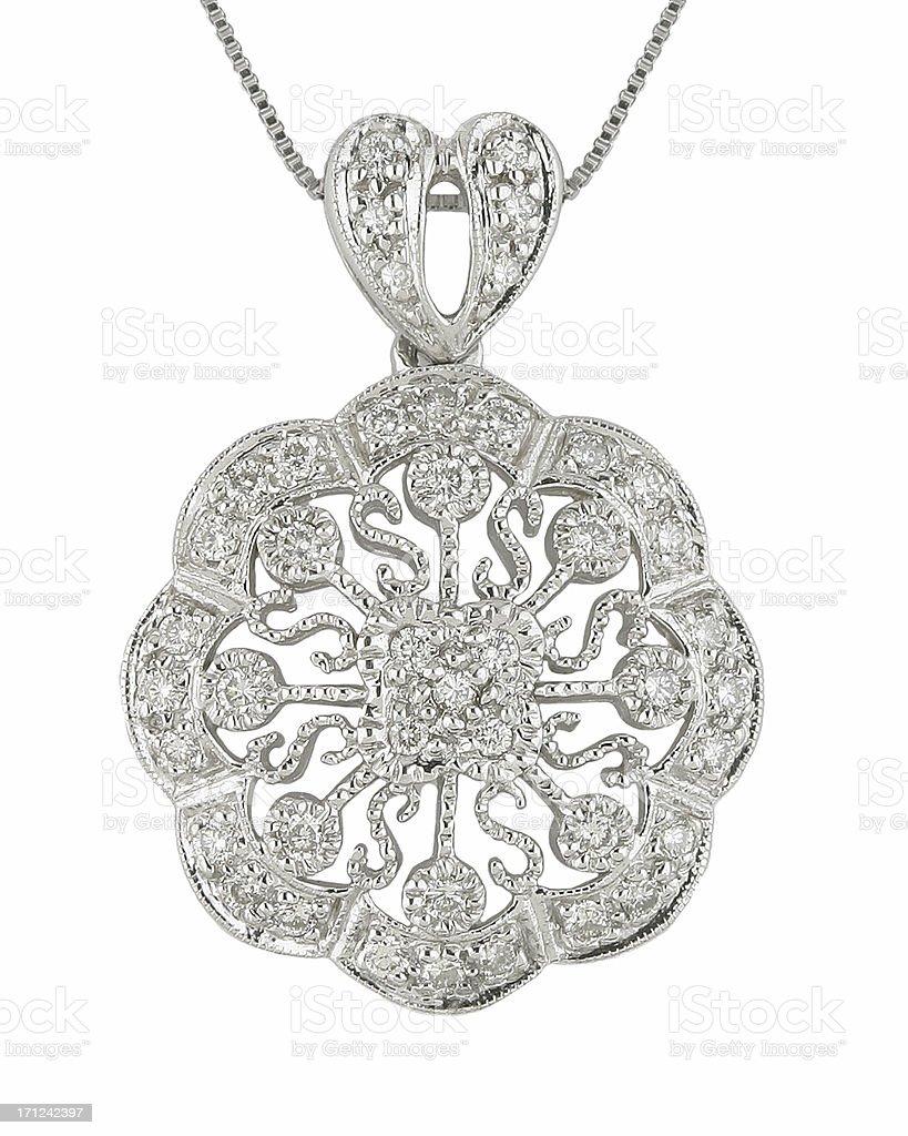 Vintage Filigree Diamond pendant royalty-free stock photo