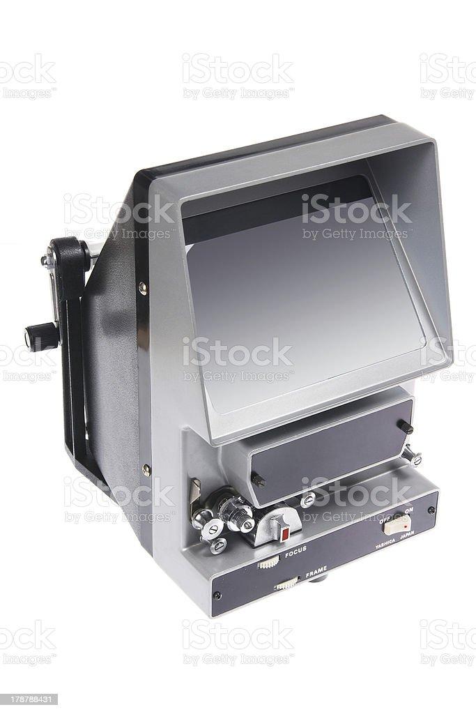Vintage Film Editing Machine stock photo