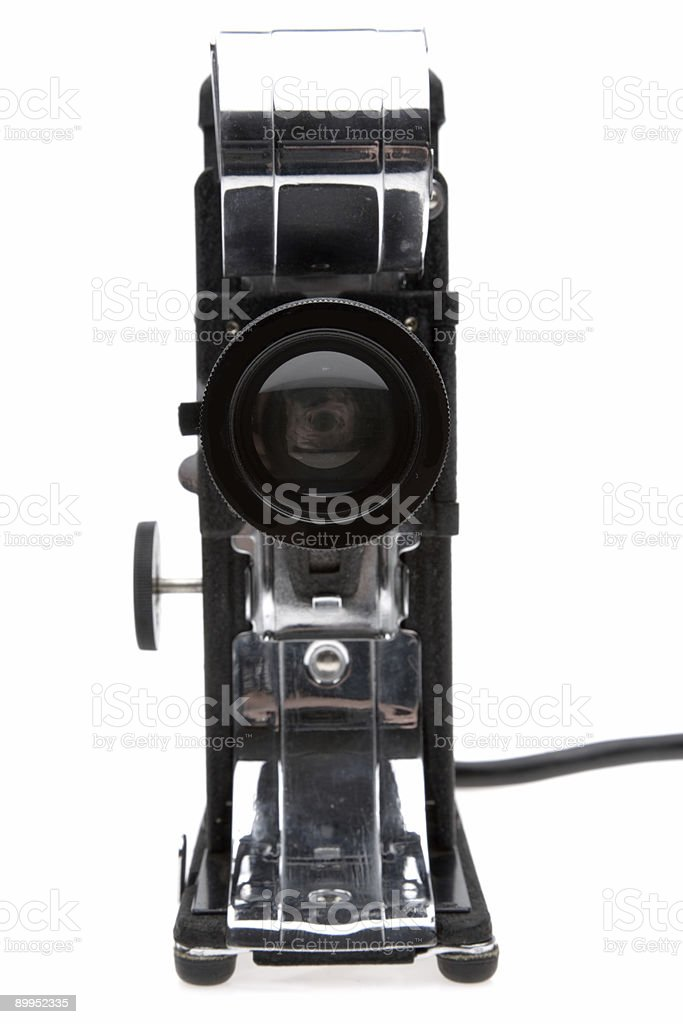 Vintage Film Projector-Front View stock photo