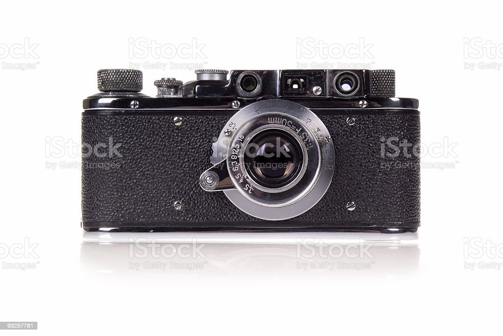 Vintage Film Rangefinder Camera stock photo