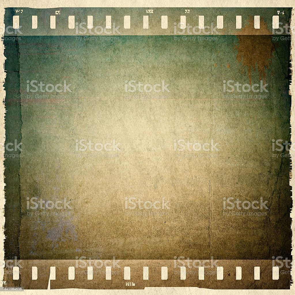Vintage film strip frame stock photo