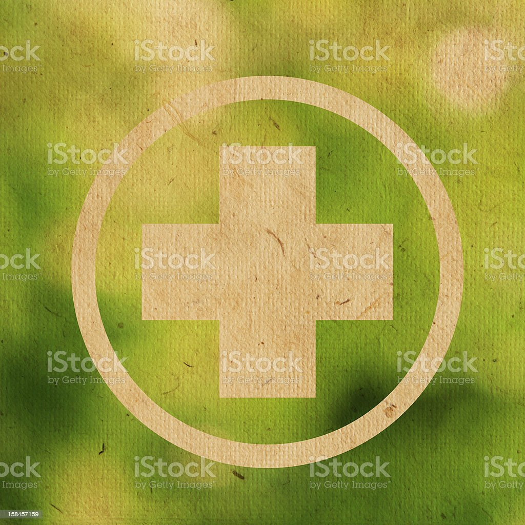 vintage first aid sign royalty-free stock photo