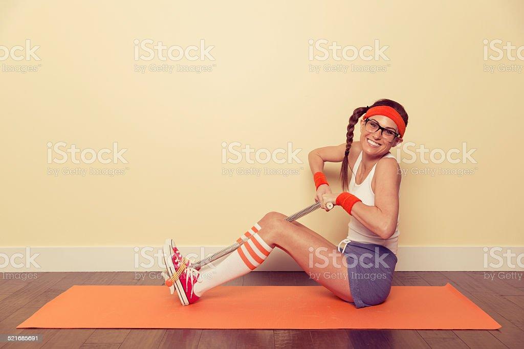 Vintage Fitness Nerd stock photo