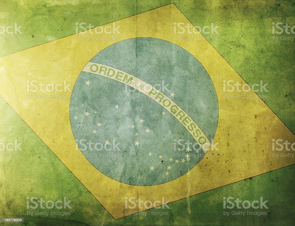Vintage Flag - Brazil royalty-free stock photo