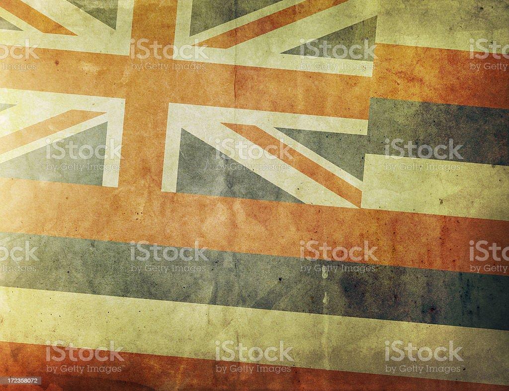 Vintage Flag - Hawaii royalty-free stock photo