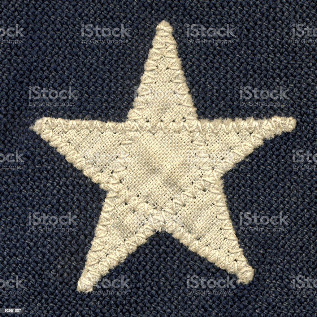 Vintage Flag Isolated Star royalty-free stock photo
