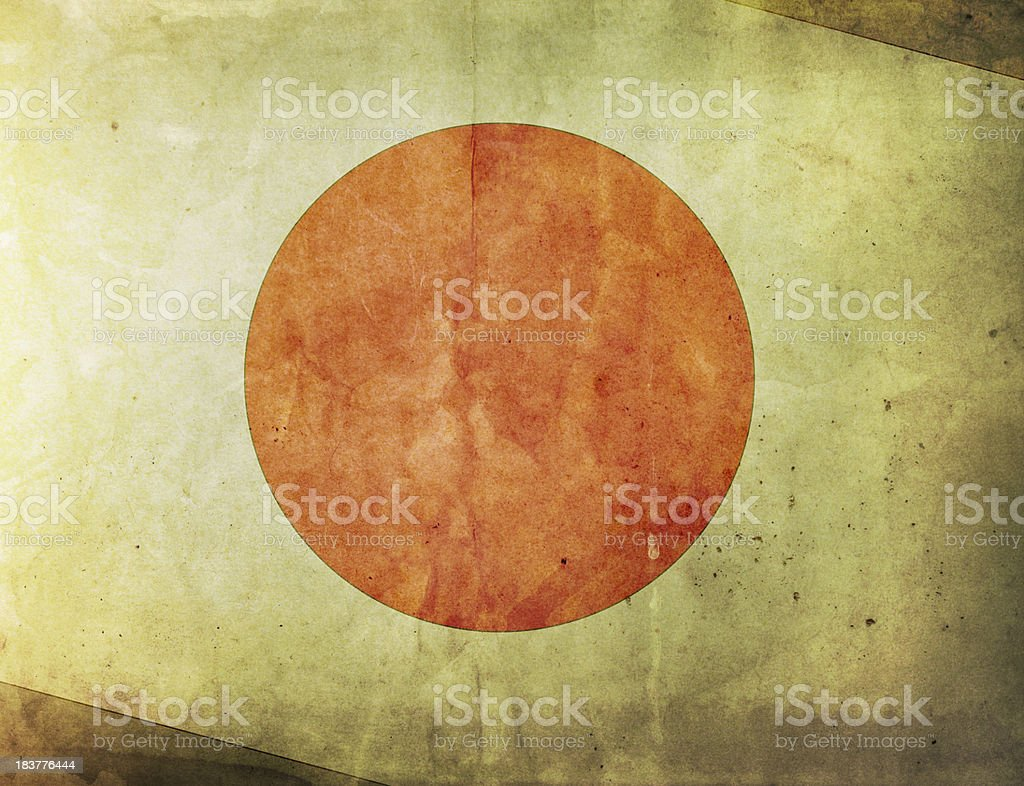 Vintage Flag - Japan royalty-free stock photo