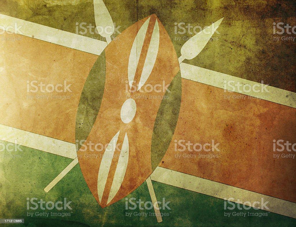 Vintage Flag - Kenya royalty-free stock photo