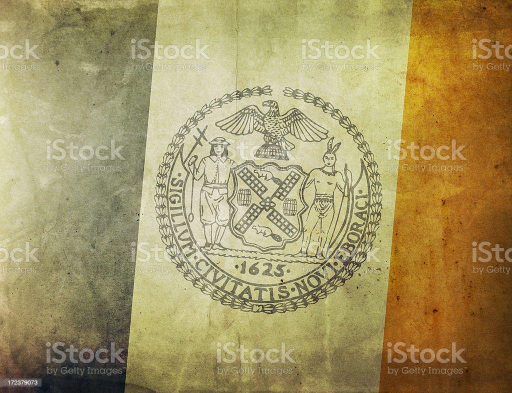 Vintage Flag - New York royalty-free stock photo