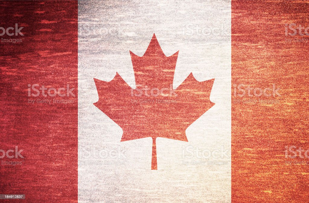 Vintage flag of Canada royalty-free stock photo