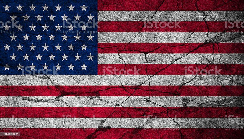 USA vintage flag stock photo