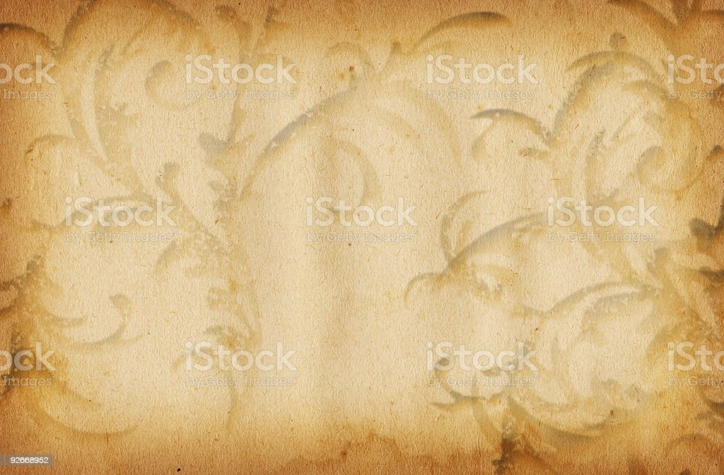 Vintage Floral Paper XXL royalty-free stock photo