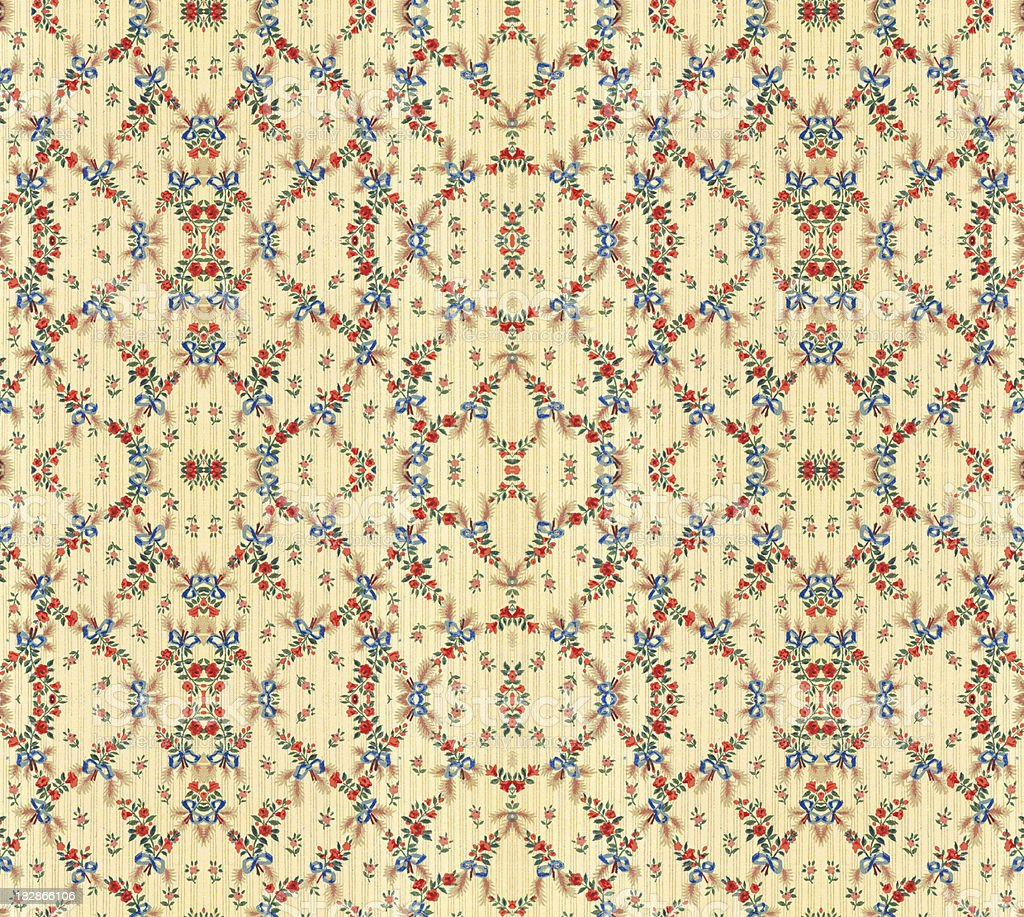 Vintage Floral Wallpaper royalty-free stock photo