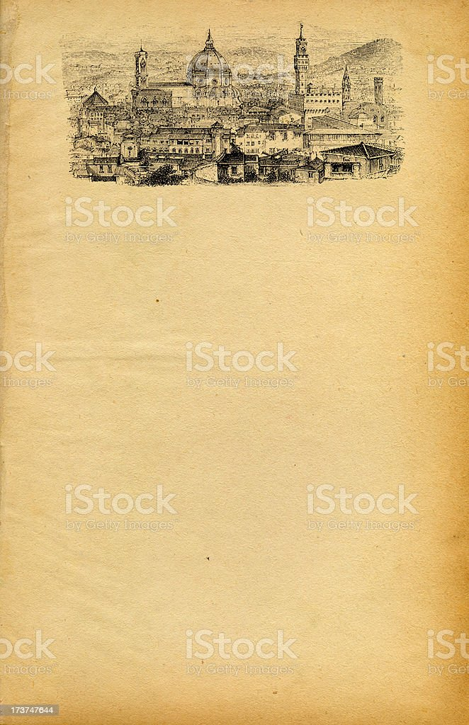 Vintage Florence Flyer royalty-free stock photo