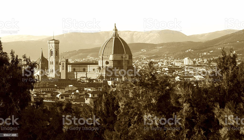 Vintage Florence royalty-free stock photo