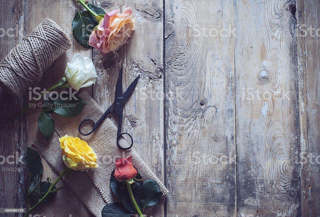 Vintage floristic background stock photo