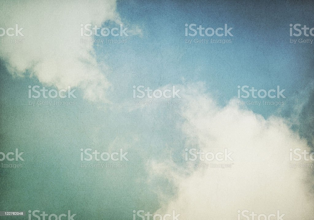 Vintage Fog and Clouds royalty-free stock photo