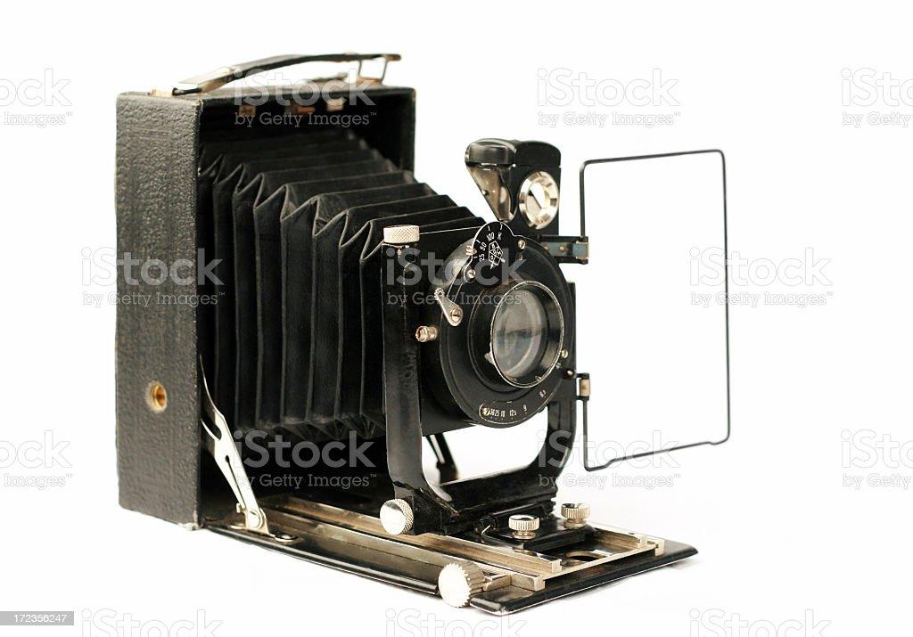 Vintage folding camera royalty-free stock photo