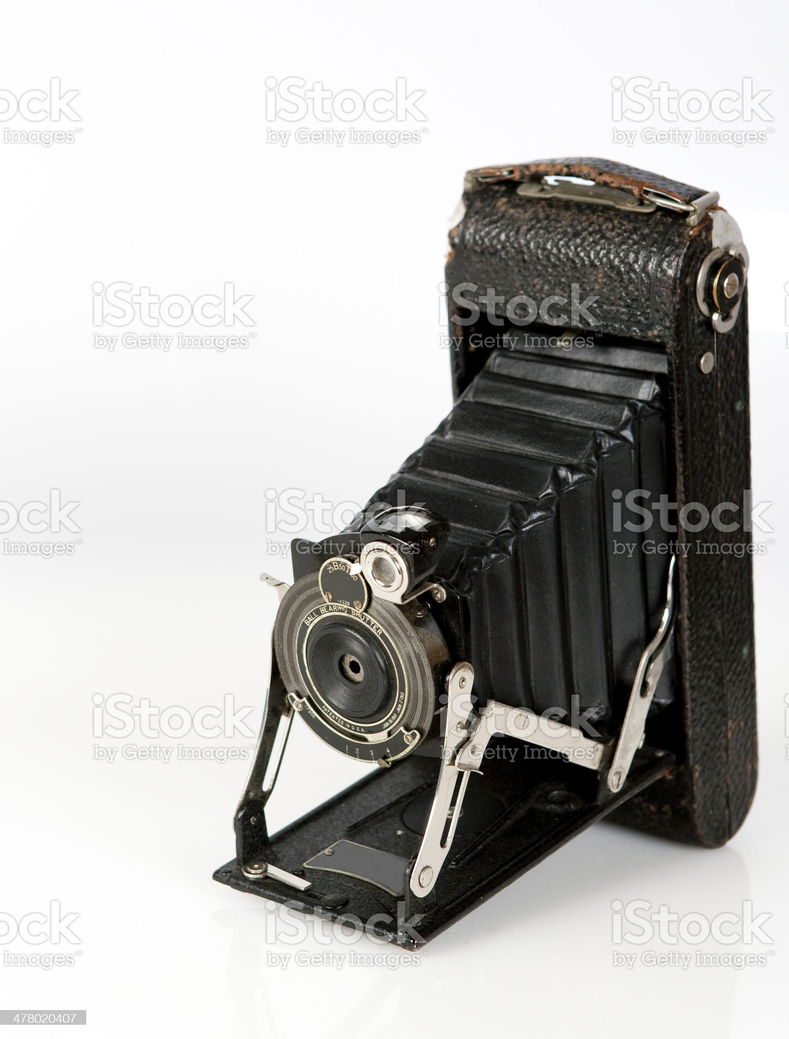 Vintage folding cameras royalty-free stock photo