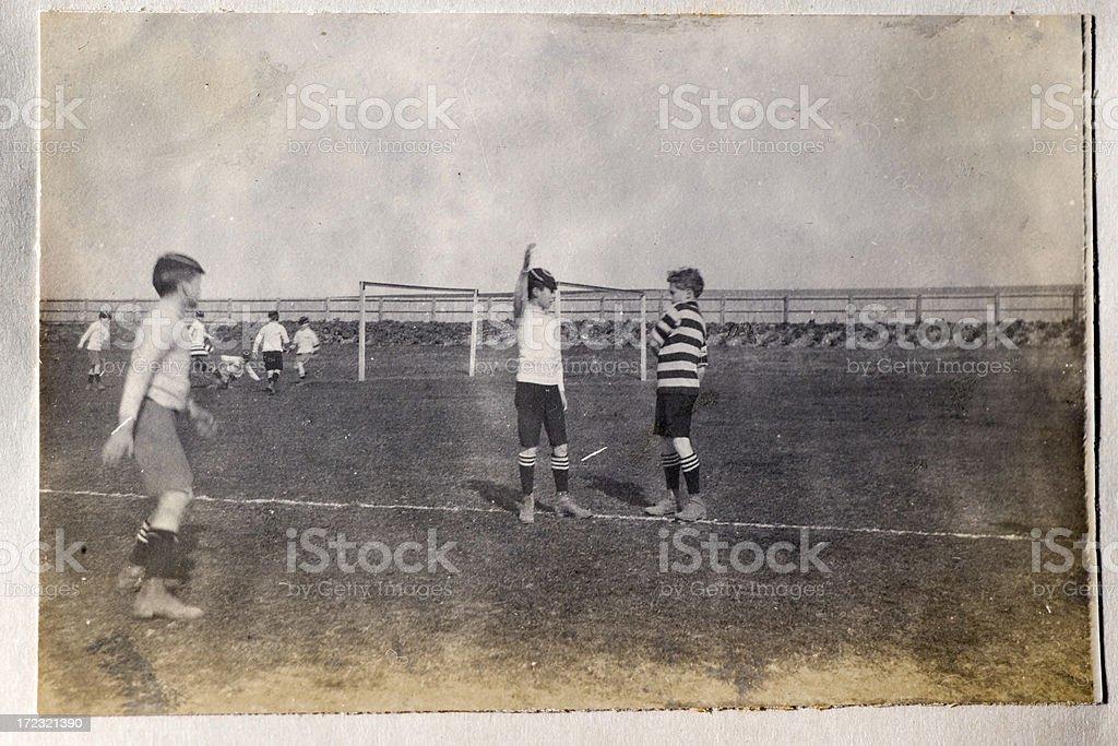 Vintage football royalty-free stock photo