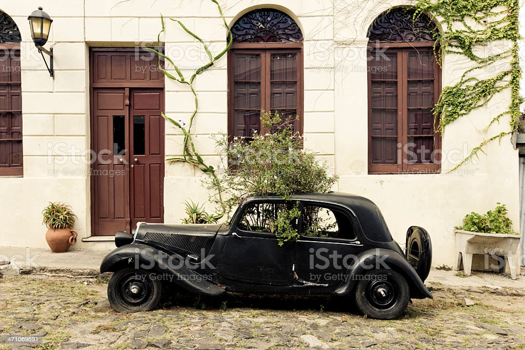 Vintage Ford Colonia del Sacramento, Uruguay stock photo