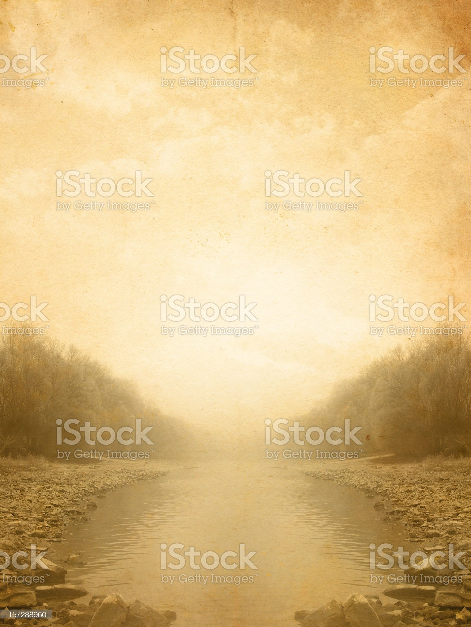 vintage forest lake royalty-free stock photo