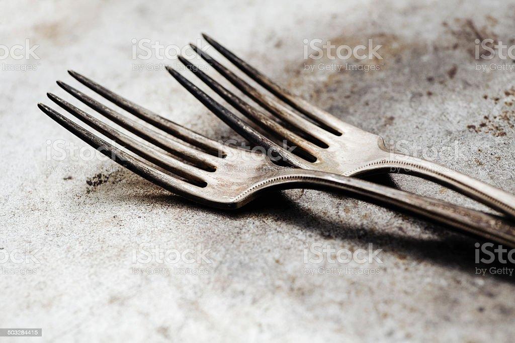 Vintage forks royalty-free stock photo
