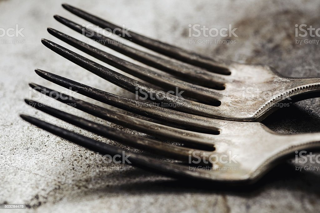 Vintage forks royalty-free stock photo