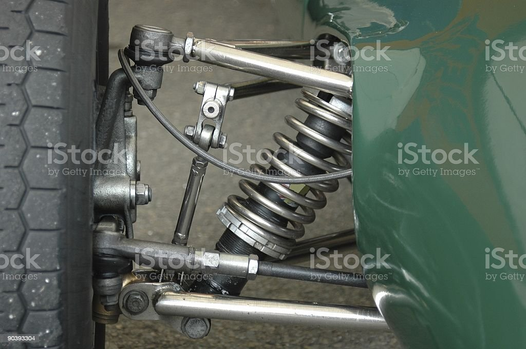 Vintage formel 3 front axel royalty-free stock photo